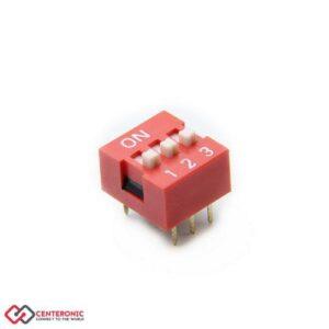 دیپ سوئیچ 3 کلیدی DS1040-03RN