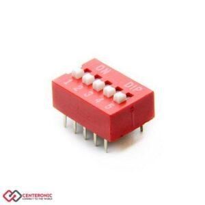 دیپ سوئیچ 5 کلیدی DS1040-05RN