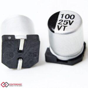 خازن الکترولیت 100uF 25
