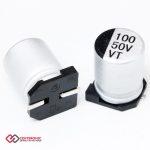 خازن الکترولیت 100uF 50v