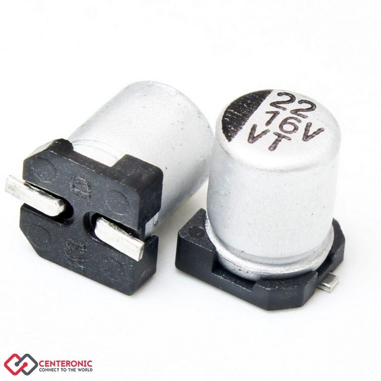 خازن الکترولیت 22uF 16v